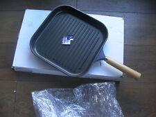 Karcher 122128 cast aluminium grill pan with wooden handle dark blue