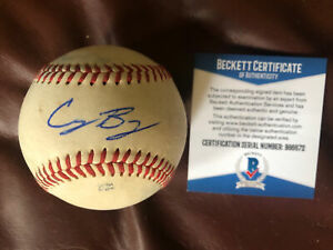 Cody Bellinger Los Angeles Dodgers Signed Auto OML GAME Baseball Beckett BAS COA