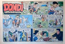 Dondi by Edson & Irwin Hasen - large half-page color Sunday comic, Aug. 18, 1957