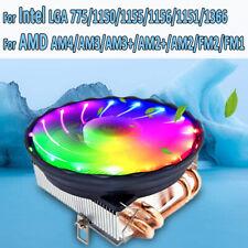 120MM LED RGB 4Pin CPU Cooler Fan For LGA 1155 1151 1150 1366 AMD FM1 FM2 AM3 +