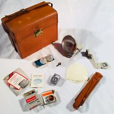 Vintage Polaroid Old Photography Equipment Lot Case Bulbs Diffuser Filter Meter