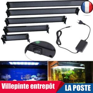 36/72/108/144/180LED Aquarium Poisson LED Lampe Barre Lumière BLANC/BLEU +Remote