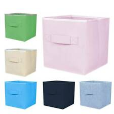 4x Foldable Storage Collapsible Folding Box Home Clothes Organizer Fabric Cube