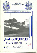 FRICKLEY ATHLETIC v WITTON ALBION 7th NOVEMBER 1987 NORTHERN PREMIER LEAGUE