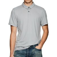James Perse Men's Short Sleeve Fresca Twill Polo Shirt USA Cotton Grey Sky