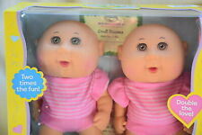Cabbage Patch Kids CUDDLE N LOVE TWINS Tiny Newborn *NEW* BROWN Eyes Juliana
