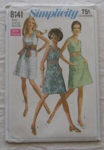 Vintage Dress Sewing Pattern*Simplicity 8141*UNCUT/FF*Size 14*bare midriff*retro