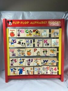 Disney Mickey Mouse Clubhouse Flip Flop Alphabet Blocks Educational Toy 2+ GUC