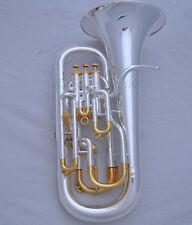 Professional Compensating system Silver Gold plate Euphonium Piston +Wheel case
