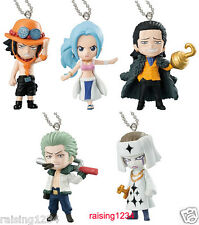 BANDAI One Piece Anime Kings Swing Keychain 2 Figure (Set 5 pcs) Ace Mr 0 Vivi