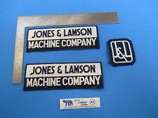 Vintage Original Machine Shop Patch Set of 3 Jones & Lamson J&L Springfield Vt