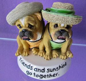 ZELDA WISDOM Bulldog FRIENDS AND SUNSHINE GO TOGETHER 2006 Westland Item #16631