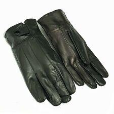 Samtweiche Echt Leder Herren Handschuhe Winter Gefüttert Lederhandschuhe L