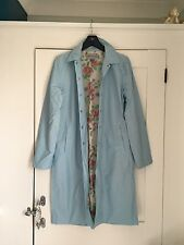Warehouse Powder Blue Raincoat, Size 12