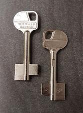 2x Tresorschlüssel Safe Rohling Wittkopp 6CAW2 Silca Keyblank