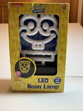 Spongebob Squarepants Led Night Light Neon Lamp Timer 4 Hrs Kids Christmas Gift