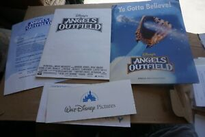 1994 WALT DISNEY ANGELS IN THE OUTFIELD PROMO PRESS KIT & SCREENING PASSES MOVIE