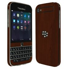 Skinomi Dark Wood TechSkin+Screen Protector for Blackberry Classic Q20