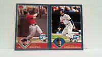 Uncirculated Topps 2003 Opening day Jeff Bagwell and Nomar Garciaparra