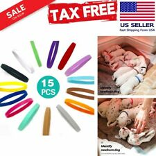 15 Colors Puppy Whelping Collars Double-Sided Adjustable Id Collars Soft Safe