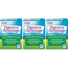 3 Pack Schiff Digestive Advantage Lactose Defense Probiotic Formula 32 Caps Ea