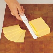 CHEESE SLICER THICK THIN DOUBLE SIDED HARD SOFT BUTTER EGG SAFE CUT SLICE NEW