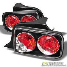 Black 05-09 Mustang Tail Lights Brake Lamps Left+Right Set Aftermarket 2005-2009