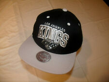 Los Angeles Kings Spelled Out Black Hat/Gray Brim Mitchell & Ness Snapback NEW
