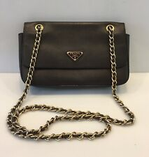 Prada Saffiano Leather Bag Crossbody Flap Chain HandBag