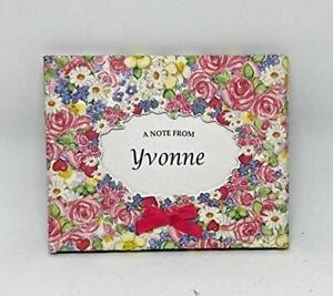 PERSONALISED 8 NAMED Hearts & Roses Notelet Note Cards WITH ENVELOPES