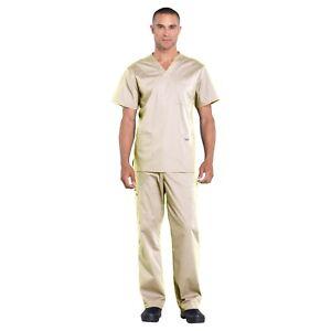 Cherokee Scrubs Set PROFESSIONAL Men's V-Neck Top & Cargo Pant WW695/WW190