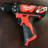 "New Milwaukee M12 12 Volt 12V Lithium-Ion 3/8"" Drill Driver 2407-20 BARE TOOL"