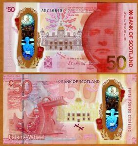 Bank of Scotland, 50 pounds 2020 (2021) P-New POLYMER UNC > Walter Scott