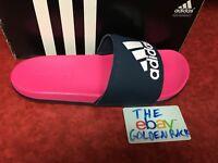 Adidas CG3428 Women Swim Slippers Adilette CF Logo Sandals Pink Navy