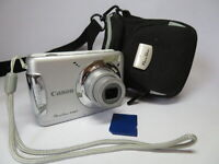 Canon PowerShot Silver A480 AA Battery 10MP 3.3x Zoom Digital Compact Camera