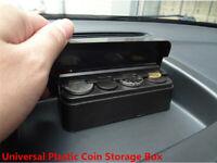 11.5x4x3.5cm Black Plastic Car Coin-specific Storage Box Interior Accessories
