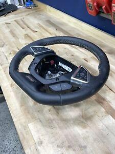 2016 2017 2018 Chevrolet Camaro SS Heated Steering Wheel Blck Leather Grey Stitc