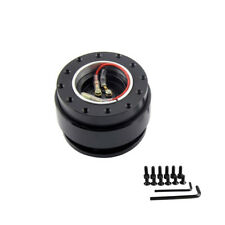 Steering Wheel Quick Release All Black Hub Adapter Snap Off Boss Kit Universal