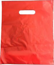 More details for plastic punch out carrier patch handle bag medium gift fashion party cloth shop