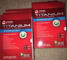 TREND MICRO TITANIUM INTERNET SECURITY & ANTIVIRUS 2012 -  (3 PCs, 1 MAC)
