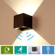 LED Außenleuchte mit Bewegungsmelder Gartenlampe Wandleuchte Außen Wandlampe