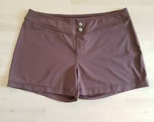 Athleta Brown Stretch Pull-on Short Shorts Size M
