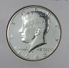 1968 SILVER PROOF JOHN F KENNEDY HALF DOLLAR FROM MINT PROOF SET 40% SILVER