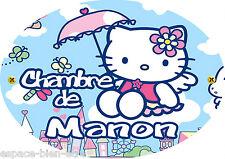 Plaque de porte Hello Kitty personnalisée avec prénom (V2)