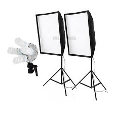 Studio Vedio Continuous Lighting kit Softbox + light stand + 8x E27 28W Bulb