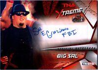 TNA Big Sal E Graziano FBI 2010 Xtreme RED Authentic Autograph Card SN 5 / 5 ECW