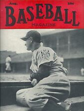 """NEW YORK YANKEES GREAT LOU GEHRIG SITTING DUGOUT STEPS """"BASEBALL MAGAZINE COVER"""""""