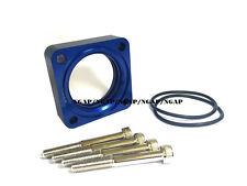Blue Spiral Flow Throttle Body Spacer For 93-97-98-01 Nissan Altima 2.4L KA24DE