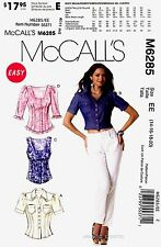 McCall's Sewing Pattern M6285 Women's 14-20 easy Tops Shirts Blouse 6285 OOP