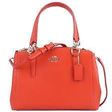 $350 Coach Christie Carryall Crossgrain Leather Mini Satchel Bag..36704..trendy